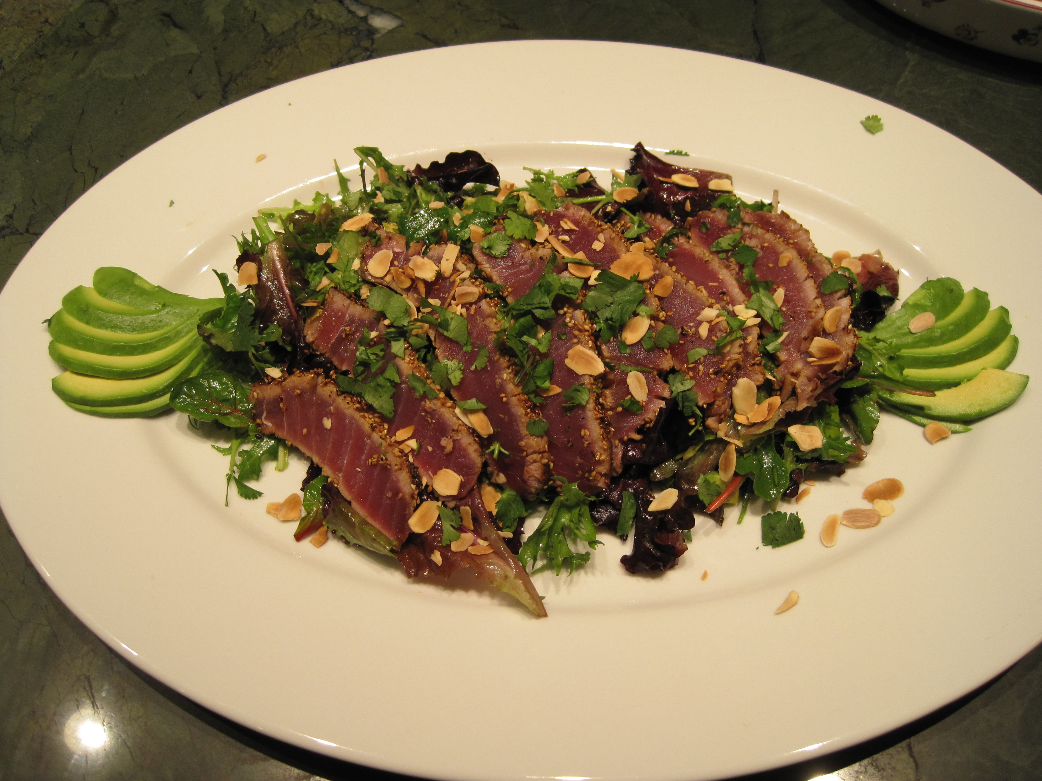 Seared Ahi Tuna Salad with a Ginger Vinaigrette | Taylor Made Menus