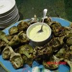 Grilled Artichokes with Tarragon Aioli