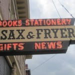 The Sign for John's Book Store