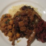 Quail Tagine with Couscous, Garbanzos and Cabbage Confit