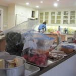 The Cooking Class Mise en Place in Our Friend's Kitchen