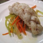 Braided Fish on Root Vegetable Escabeche