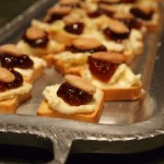 Triple Creme Cheese with Fig Jam and Macarona Almonds