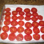 Letting the Tomatoes Drain on Paper Towels