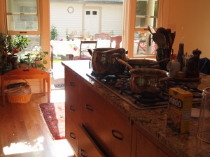 The Afternoon Sun coming into the Kitchen