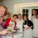 Bob, Betty, Cynthia, Kathy, Leslie, Molly, Dan and Me Cooking for the Italian Dinner