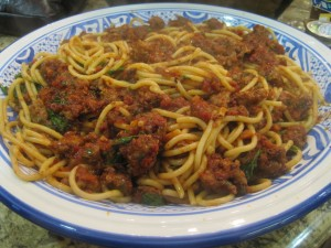 Spaghetti with Capers and Sundried Tomatoes