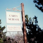 The Old Carey School Sign